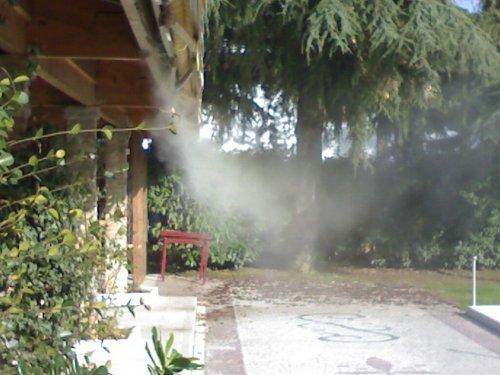Wasservernebelung: Abkühlung von Terrassen