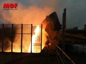 Staub-und Geruchsbindung in Stahlwerken und Gießereien