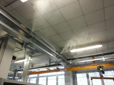Luftbefeuchtung für Druckereien und Textilindustrie