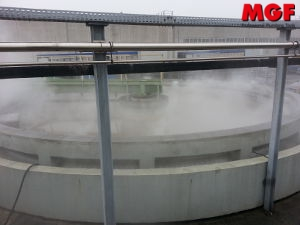 Deodorization of sewage treatment tanks with MGF chemicals nebulizers