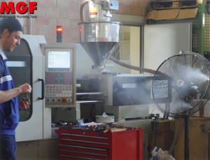 Misting used in industry: cooling, humidification, watermist, dedust..