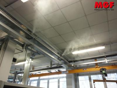 Humidification in the printing and textile industry with MGF misting