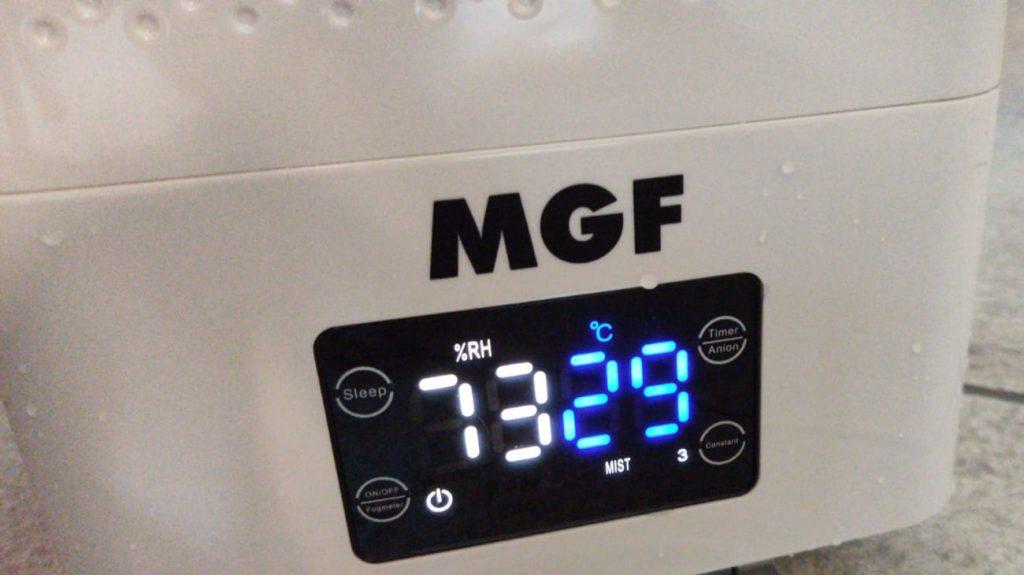 791080 Foggy 1000 Nebulizzatore sanificante, visualizza temperatura e umidità